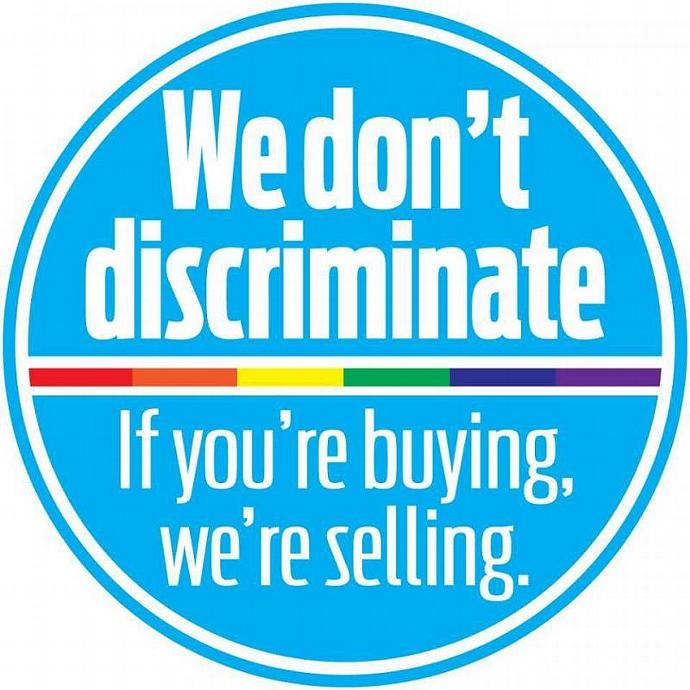 PIF Non-discrimination sticker for your shop