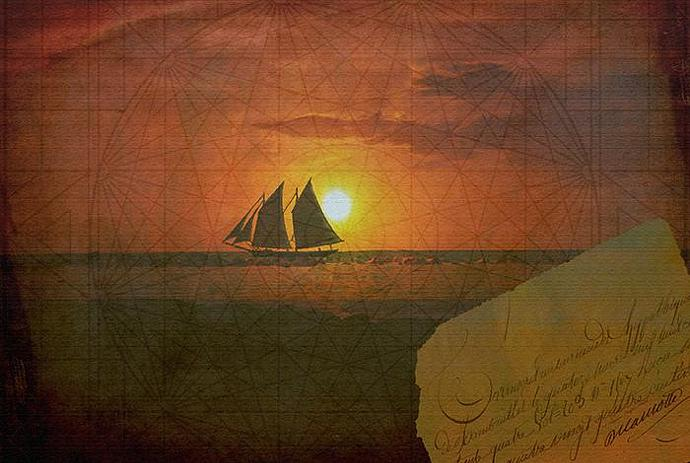 Come Sail Away With Me- Mixed Media- Collage- Photograph