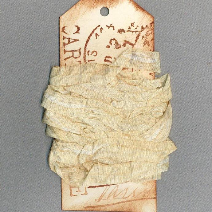 seam binding rustic tea dyed trim gift wrap craft scrapbook journal ribbon 5 yd