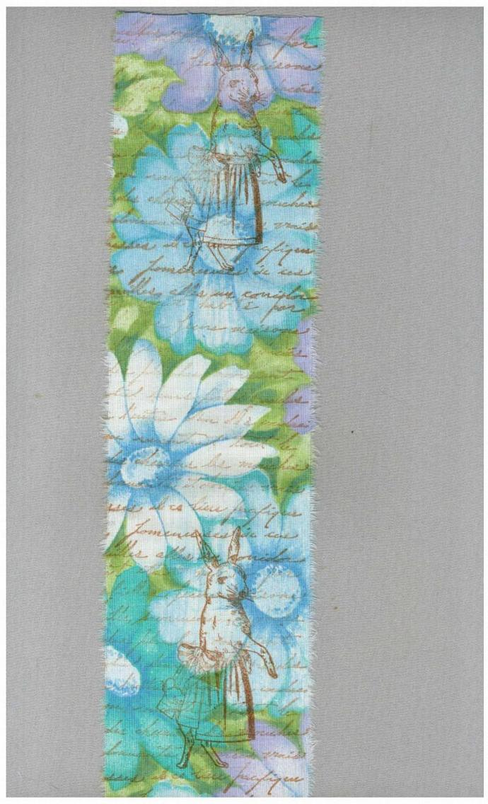 easter ribbon hand made trim vintage rabbit turquoise vintage trim rubber