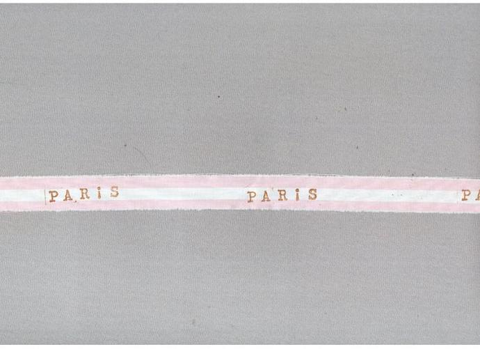PARIS baby girl favor pink cotton candy shabby trim french chic hand stamped