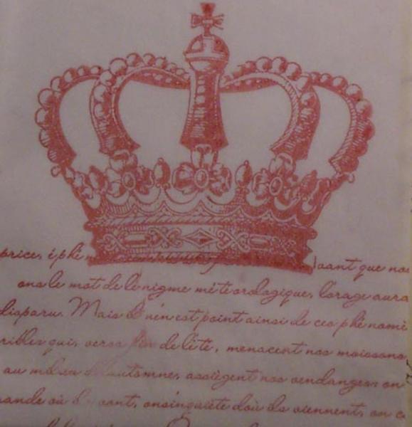 60 Parisian crown french script glassine bag shabby chic wedding favor treat