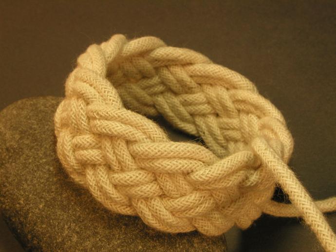 child white woven bracelet adjustable small 345