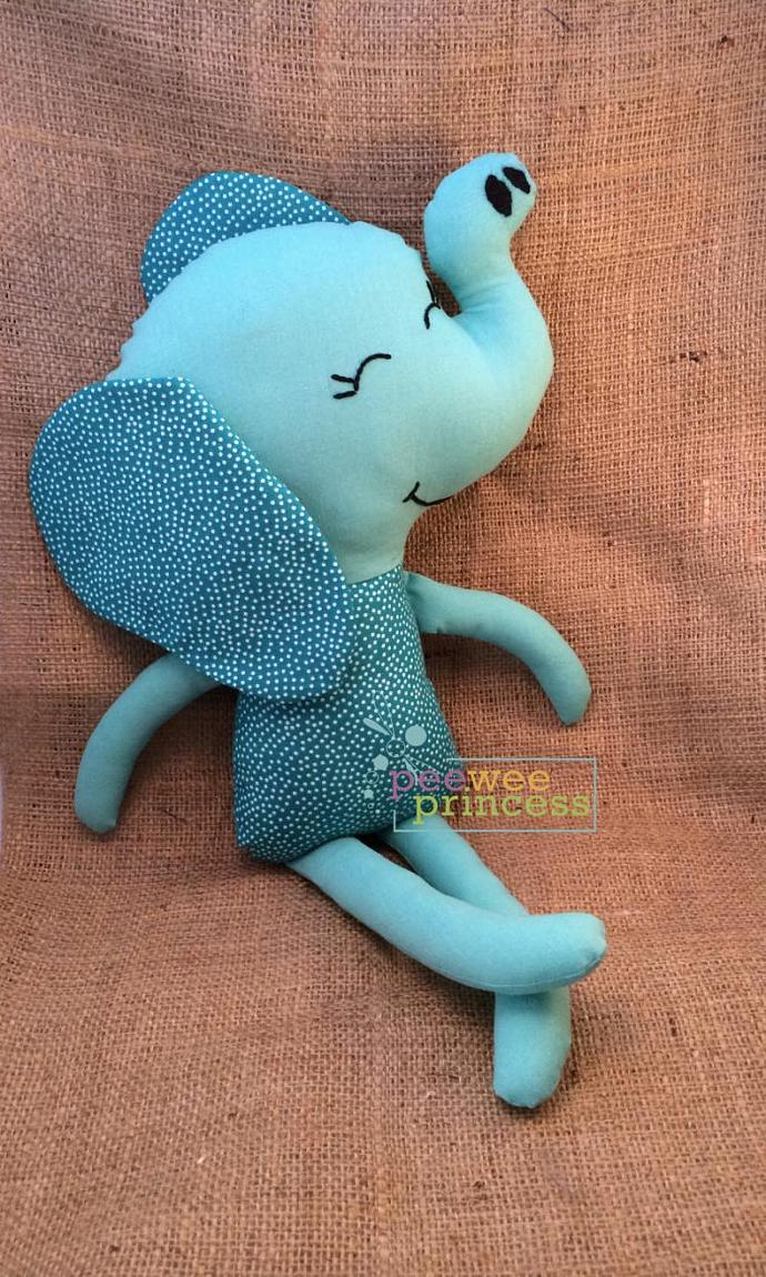 Elephant Softie Blue