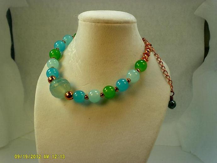 Agate and Copper Bracelet-Item #0169