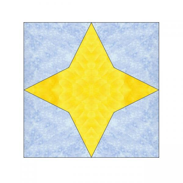 ALL STITCHES - STAR PAPER PIECING QUILT BLOCK PATTERN .PDF -123A