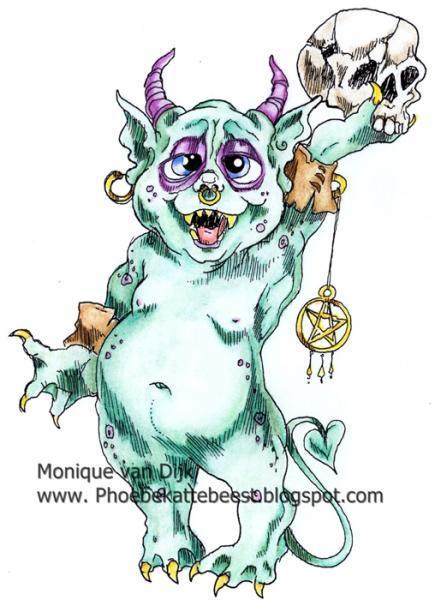 Swixtus the little monsterDigi Stamp  2014