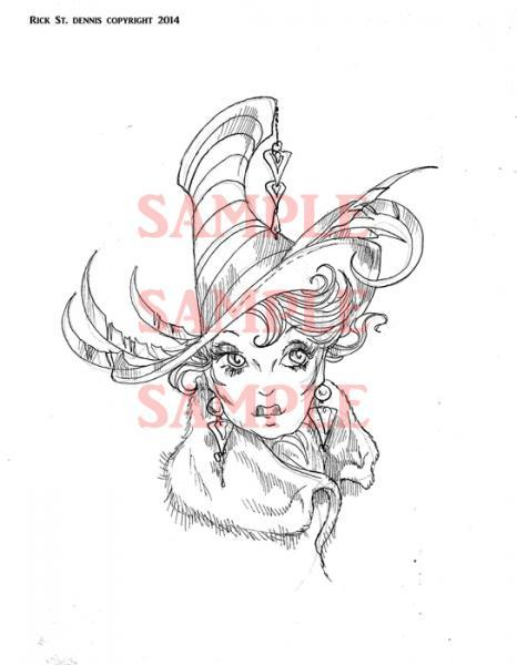 """Shady Ladies """"oh no she Dint"""" digi stamp"""