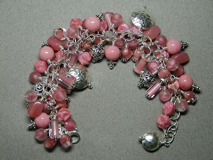 Handmade Pink/Siver Bracelet