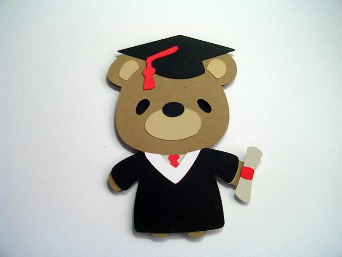 teddy bear graduate card kids graduation card graduation card