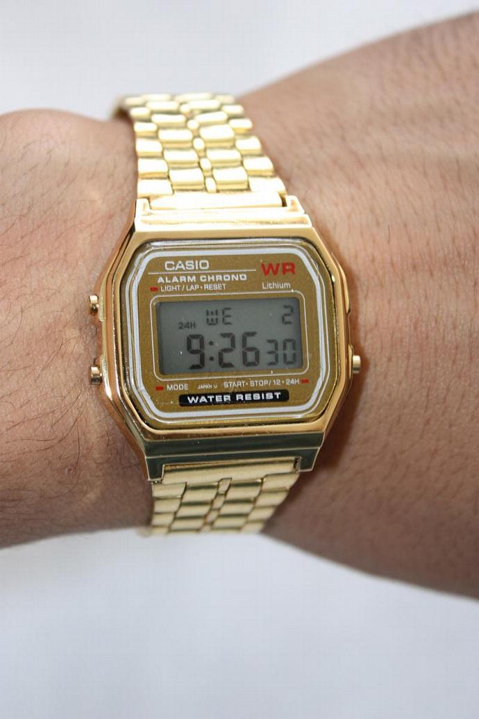 Casio Retro Gold