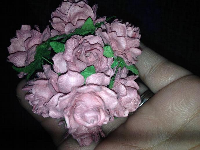 25mm open rose mauve