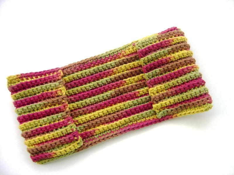 Autumn Leaves Reusable Dry Crochet Swiffer Mimiandcolette