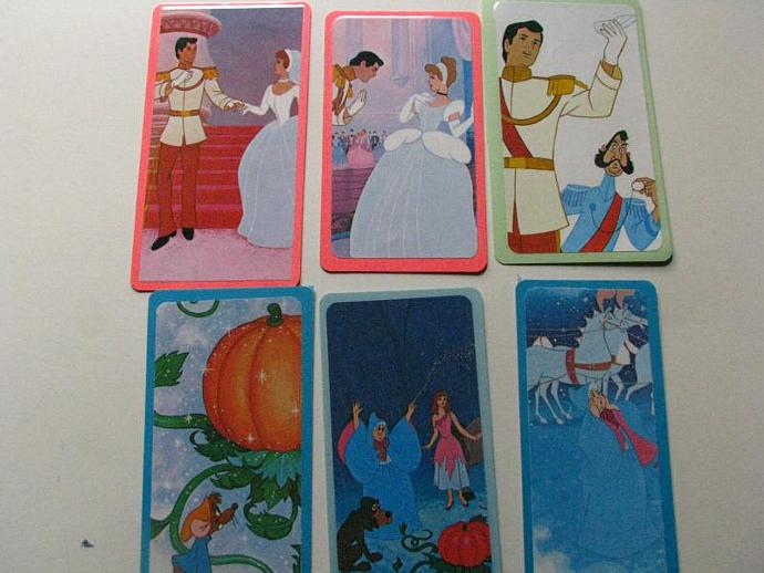 REDUCED- Cinderella Bookmarks- A Bulk Set of 6 - Ready for your child's favorite