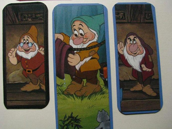 REDUCED- Snow White and the Seven Dwarfs - Set of 5 Bookmarks- Ready for your