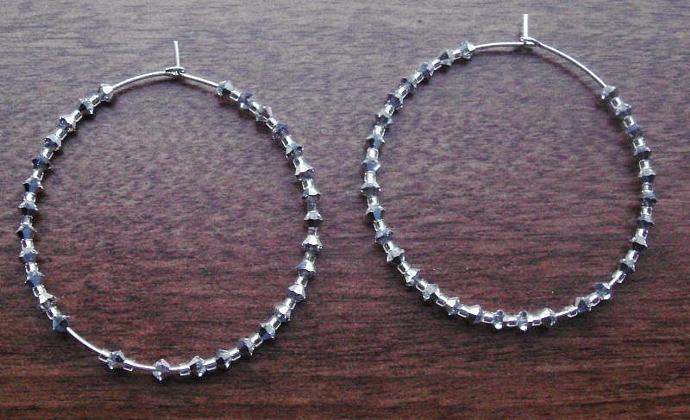 Diamond Like Hoop Earrings