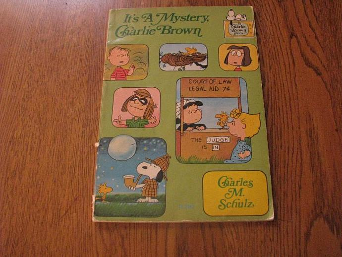 It's A Mystery, Charlie Brown children's book by Charles M. Schulz 1975