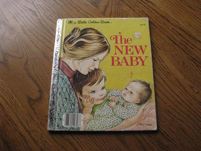 """A Little Golden Book- """" The New Baby"""" by Ruth ad Harold Shane- illustrated by"""
