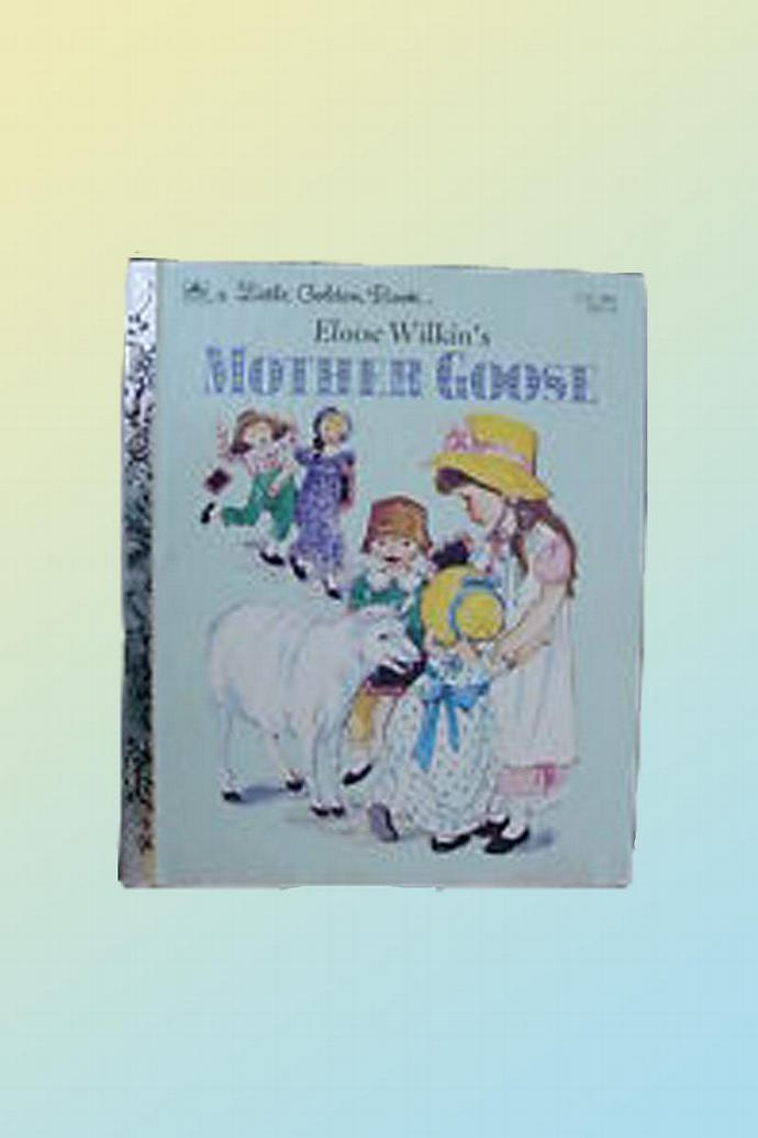 A Little Golden Book 1981 -Eloise Wilkin's Mother Goose - Vintage - beautiful