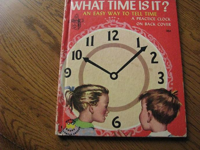 """Wonder Book- A Romper Room Book- """" What Time is It?"""""""
