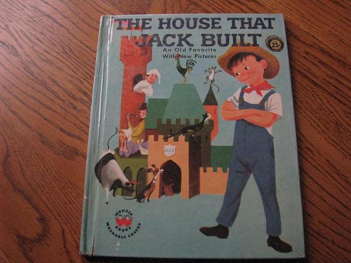 Vintage Wonder Book - 1959 - The House that Jack Built