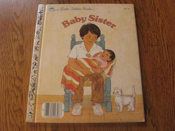 """A Little Golden Book- """" Baby Sister""""  by Dorothy M Sachs"""