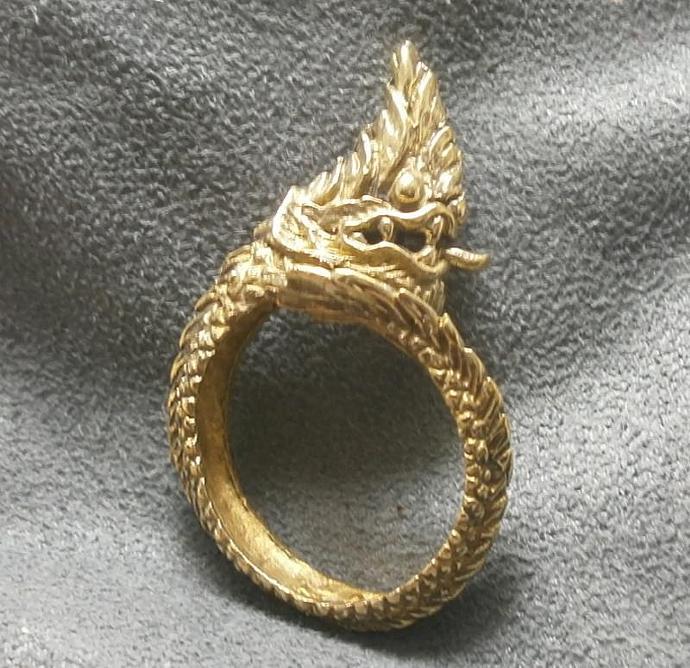 naga nak snake brass men ring adjustable size