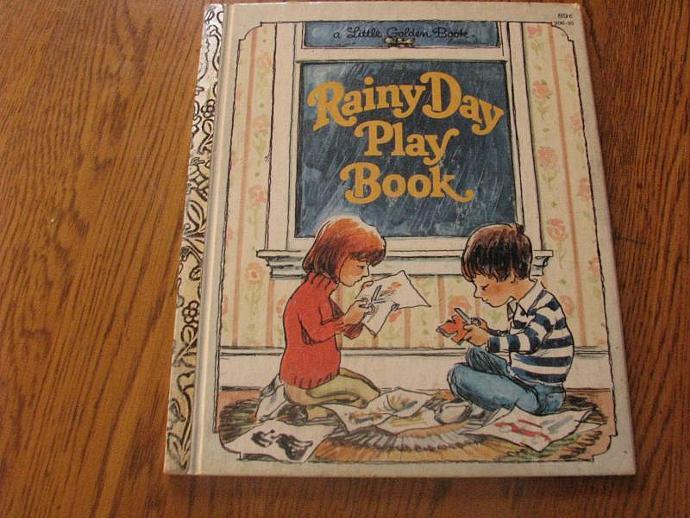 "A Little Golden Book- "" Rainy Day Play Book"""