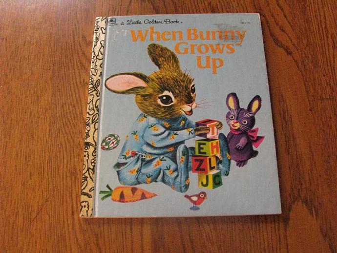 """A Little Golden Book Illustrated by Patsy Scary - """" When Bunny Grows Up"""""""