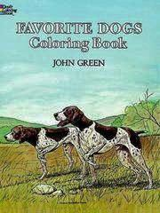 Favorite Dogs Coloring Book - Dover Coloring book 1983