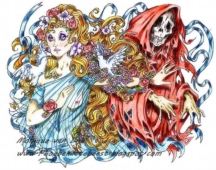 Death and the Maiden digi stamp