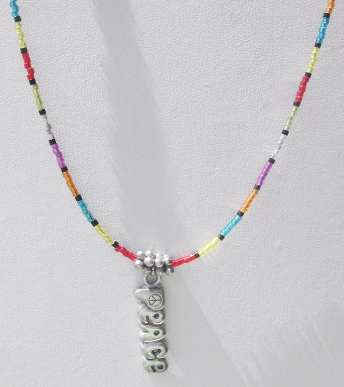 Rainbow Peace Necklace