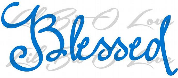 Script Blessed Vinyl Decal Christian God Jesus Bible