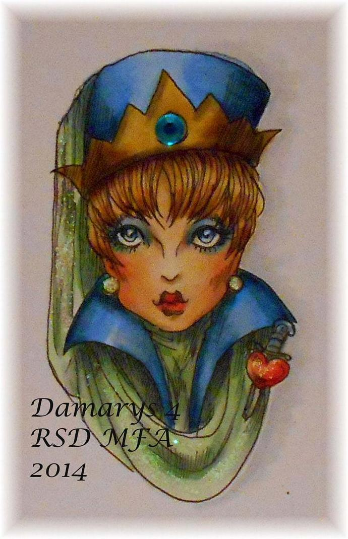 "Shady Ladies ""Wicked Queen"" digi stamp"