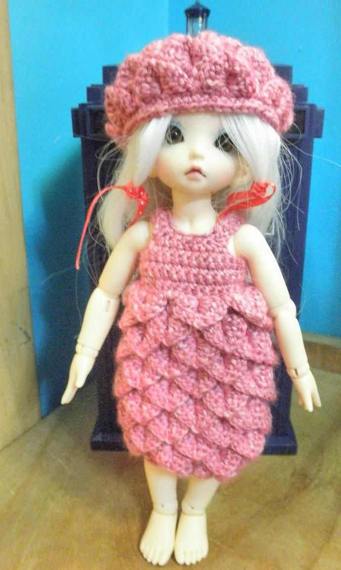 Pink Littlefee  Yo-sd Petal dress