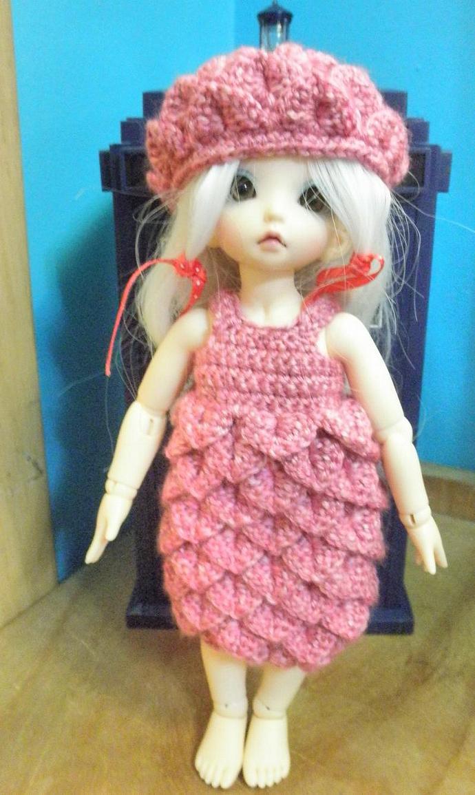 Pink Littlefee  Yo-sd Petal dress