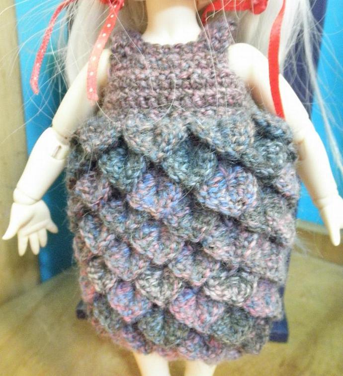 Purple ombre petal dress for Littlefee Yo-sd