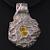 Fine Silver Brain Coral Pendant