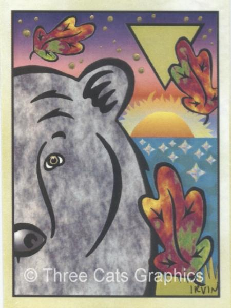 Black Bear West Symbolic Fetish Totem Animal Limited Edition ACEO Print