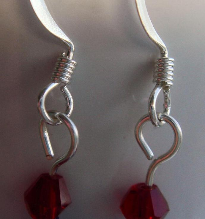 Red White & Blue Dangle Earrings