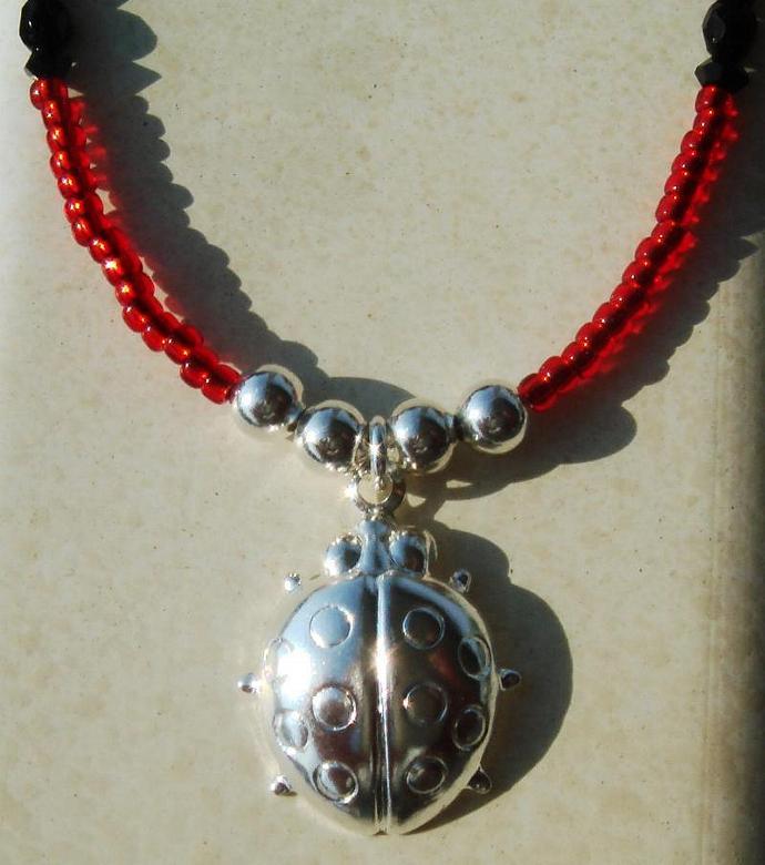 Red Ladybug Necklace