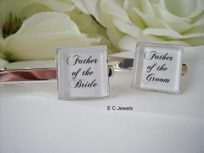 Father of the Bride or Groom Tie Clip/Bar