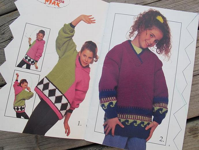 Canadiana Max funky Sweater Knitting Patterns for Kids / Book No. 673