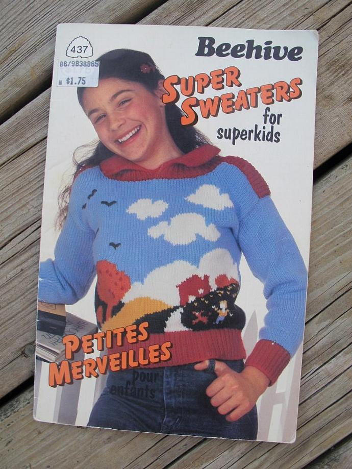 Beehive Super Sweaters for Superkids / Beehive Patons No 437