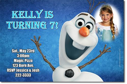 Frozen the Movie Birthday Party Invitations (Download JPG Immediately)