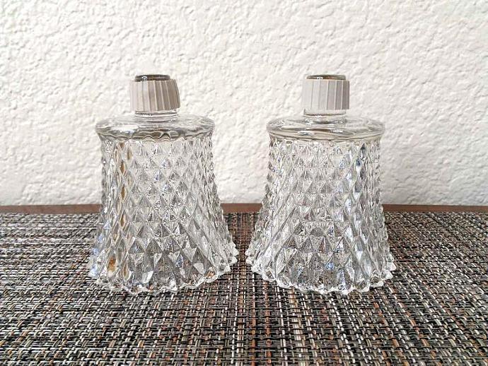 Vintage Homco Peg Votive Cup Clear Diamondlite