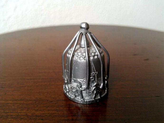 1980s TCC Maypole Pewter Thimble from England