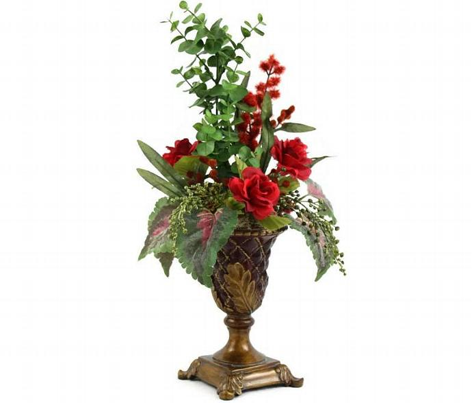 Tuscan decor silk floral arrangement unique patiquefloral tuscan decor silk floral arrangement unique home decor artificial flowers in mightylinksfo