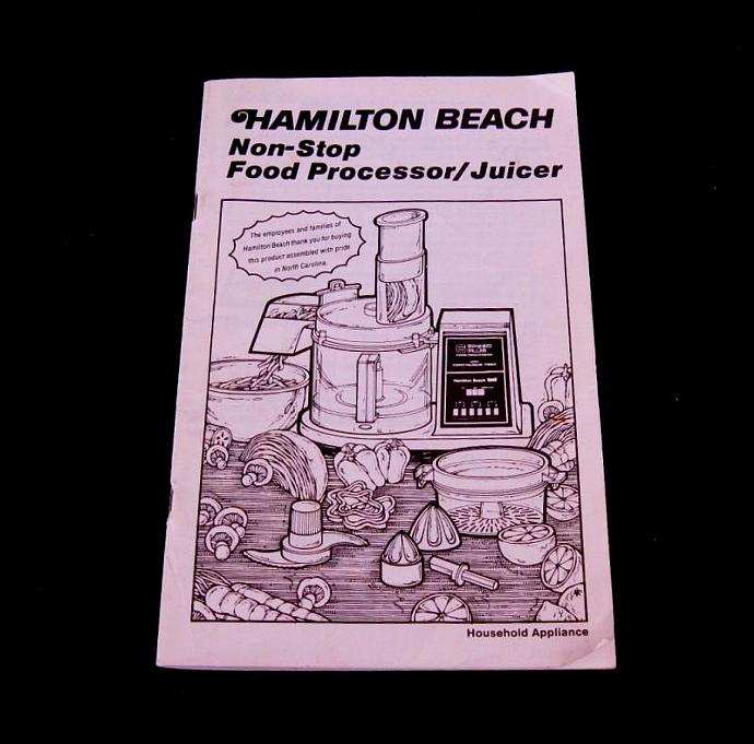 Hamilton beach food processor instruction by lauraslastditch on zibbet hamilton beach food processor instruction manual recipe booklet 712 2 712 1 forumfinder Image collections