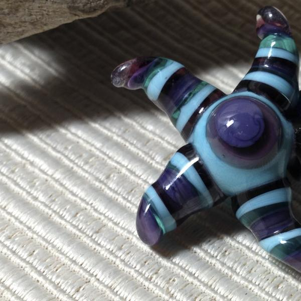 STAR Pendant Handmade Lampwork Glass OOAK Focal Bead  Starfish Pendant